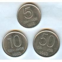 Argentina 1983 Monedas Aluminio 5 - 10 - 50 Centavos