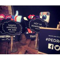 Props Accesorios Madera Photobooth Boda Casamiento 15 Años
