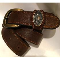Cinturón John L. Cook. Gamuza Marron. 95 Cm