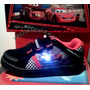 Zapatillas De Cars Con Luces Y Triple Abrojo