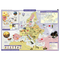 Mapa Mural Histórico - Segunda Guerra Mundial