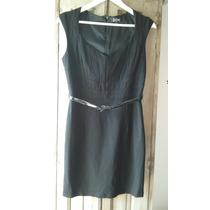 Vestido Corto Negro Las Oreiro