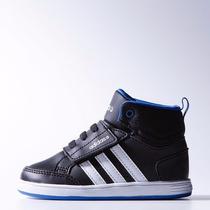 Zapatillas Kids Adidas Neo Hoops Mid De Bebé
