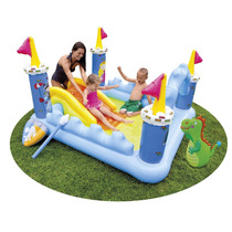 Pileta Pelotero Playcenter Inflable Intex Castillo Fantasy