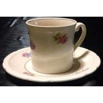 Dúo Taza Y Plato Café En Porcelana Inglesa. Sellado.