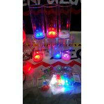 60 Vasos Led Luminosos Cotillon, Eventos Fiesta Luces