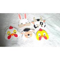 Antifaz Mascara Infantil Animales Gomaeva X 10 Unidades