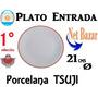 Plato Entrada 21 Tsuji Rojo Roja Bar Resto Chico Porcelana