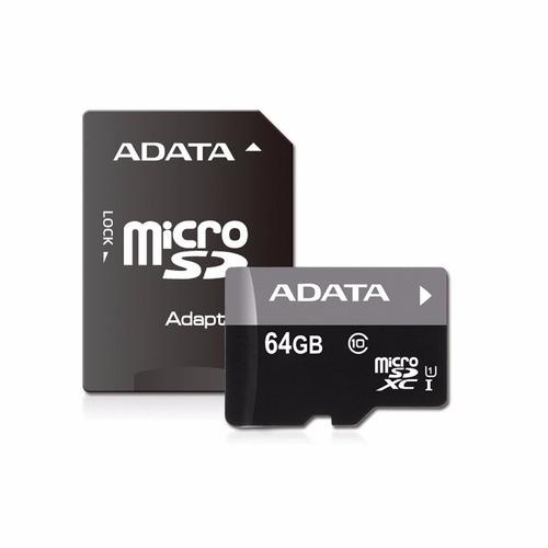 Memoria Micro Sd Adata 64gb Clase 10 Sdhc+ Adaptador Full Hd