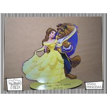 Souvenir Evento Madera 60cm Princesas Disney Bella Bestia