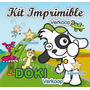 Kit Imprimible Doki Candy Bar Invitaciones Etiquetas Fiesta