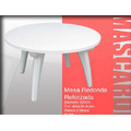 Mesa De Plastico Redonda Mascardi-reforzadas - Color Blanco