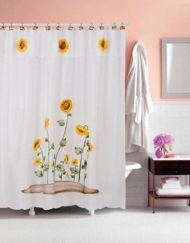 Cortina de ba o para ducha en tela teflon calidad for Fabrica de ganchos para cortinas de bano
