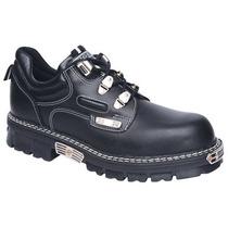 Zapato Acordonado Cuero Punta Acero! Oxi63