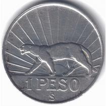 Uruguay 1 Peso De Plata 1942 Puma Artigas Excelente+