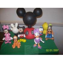 Adorno La Casa De Mickey Mouse Con Los 6 Personajes