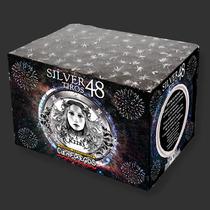 Pirotecnia Torta Gold/silver 48 Tiros Fuegos Artificiales