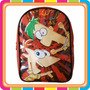 Mochila Espalda Jardin Phineas Y Ferb Disney - Mundo Manias