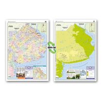 Mapa Mural Provincia De Buenos Aires - Físico/político