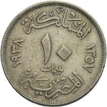 Egipto 10 Milliemes 1354 (1935).