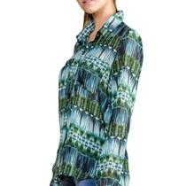 Camisa Gasa Estampada Dama Manga Larga - Envio Al Pais