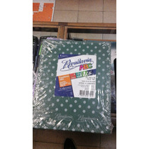 Cuaderno Rivadavia Abc Verde Lunares Blancos 50 Hojas Rayado