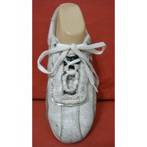 Lady Stork Zapatillas Mujer 38 Cuero Blanco Plata (ana.mar)