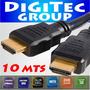 Cable Hdmi 10 Metros 1.4 1080p Full Hd Ficha Oro 3d- Cordoba