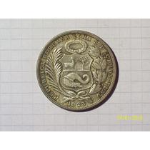 Peru 1 Sol Plata 1923 Muy Linda