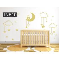 Vinilos Decorativo Infantiles Nena Nene Bebe Deco Luna