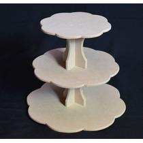 Torre Porta Cupcake Fibrofacil Para Pintar P/ Candy Bar