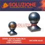 Esfera Bocha Reja Aluminio Base Cuadrada 60x60 Seguridad Top