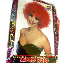 Peluca Afro Roja - Fiesta & Eventos En La Golosineria