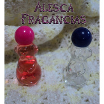 10 Envases,frasco Vidrio, 20cc,osito, Perfume Fino, Souvenir