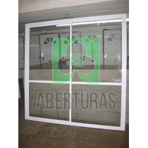 Aberturas:puerta Ventana Alum Bl Entero 2,00x2,00 C/vidrio