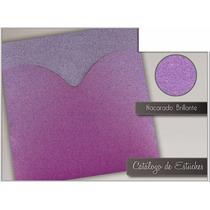 Estuche Nacarado Brillante Color Violeta 15 Años Boda