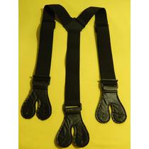 Tirador Pantalón Suspenders Tactico Doble Ojal Negro 4cm
