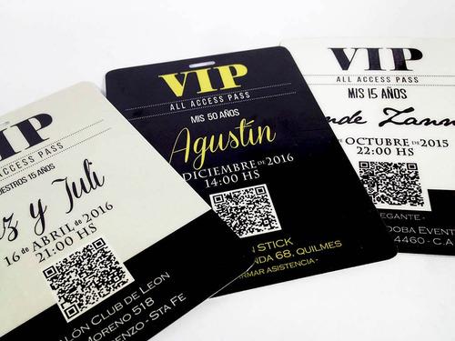 e115f9a549f6 Credencial Vip 15 Años Invitaciones Tarjetas Plastif. X10 en venta ...