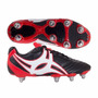 Botines Rugby Gilbert Sidestep Negro/rojo (10677)