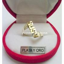 Anillos De Plata Y Oro Con Nombre, Pedi El Tuyo!!