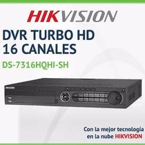 Dvr Grabador Cámaras Turbo Hd Análogas 16 Canales Hikvision!