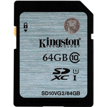 Memoria Kingston Sd 64gb Clase 10 45mb/s Hd Uhs-i 3d