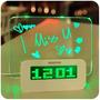 Reloj Despertador Digital Con Pizarra Magica Y Luz Led