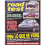 Revista Road Test Nº64 Peugeot 306 Diesel Honda Civic