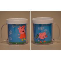 Lote 10 Tazas Peppa Pig Plastica Personalizada