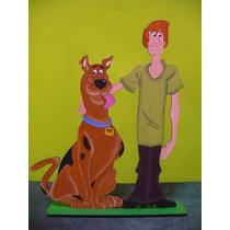 Adorno Para Torta Scooby Doo Y Shaggy , Centro De Mesa,