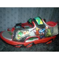 Sandalias Zapatillas Del Los Vengadores Con Luz Importadas
