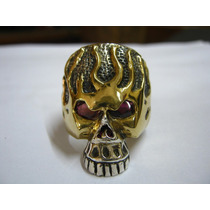 Anillo Calavera Plata 925 Rock Heavy Choper Hip Hop