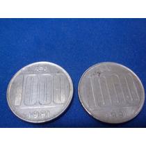 Lote 2 Monedas De 1000 Australes 1991 P/colección Excelentes