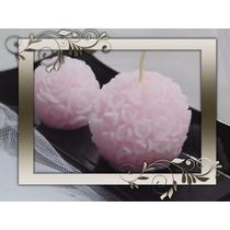 Velas Bocha De Rosas Tamaño Mediano Para Souvenir